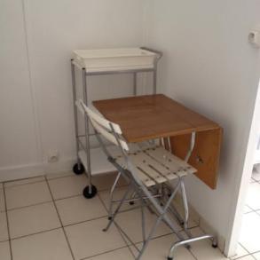 Studio meublé de 17 m² disponible courant juillet